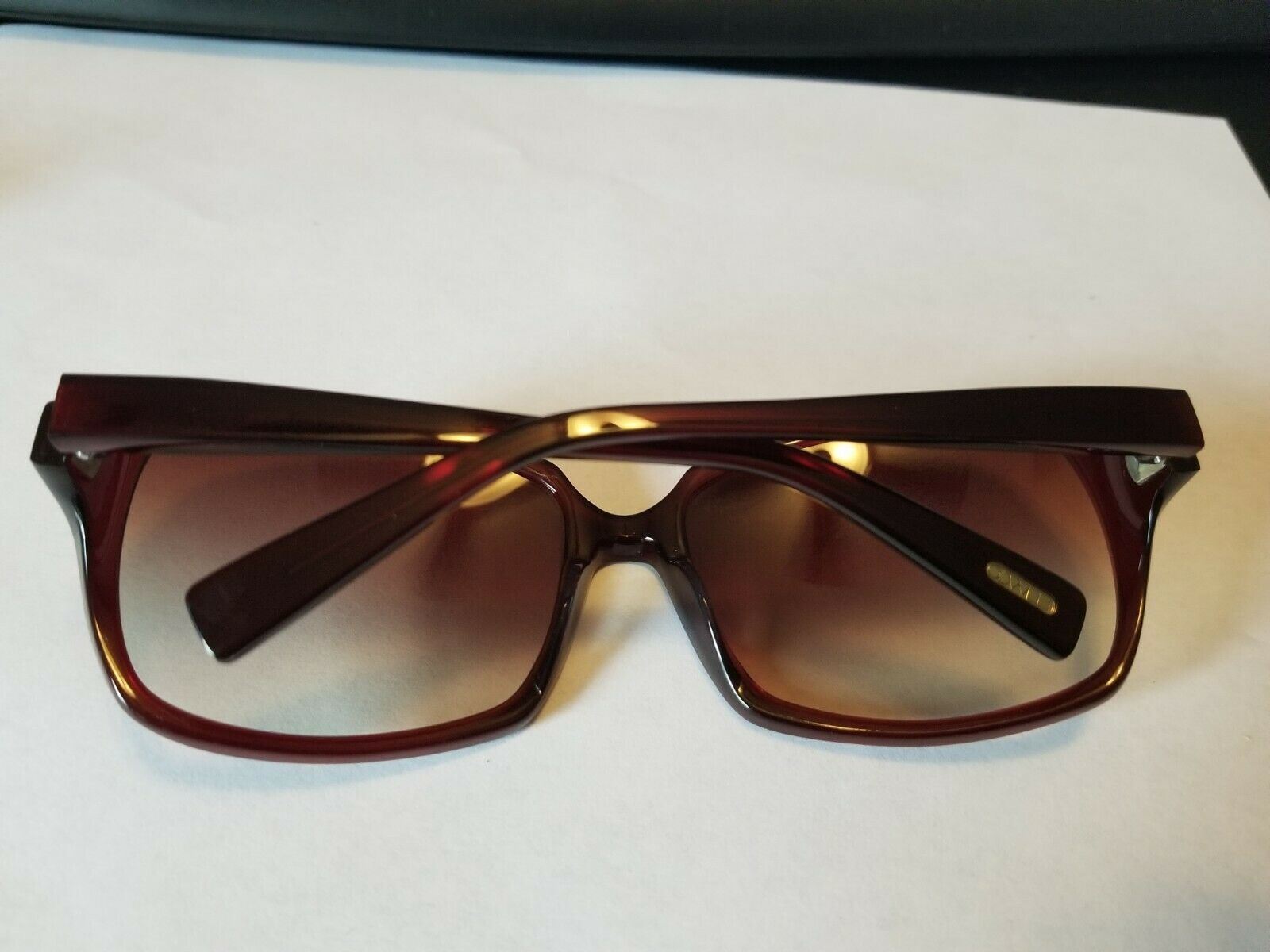 OLIVER PEOPLES Candice SI Sunglasses Glossy Transparent Dark Burgundy Red ..NEW image 5
