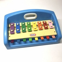 Little Tikes Vtg 1985 Xylophone Piano Tap A Tune Blue Toy Learn Play Music Baby - $42.56