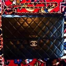 Auth CHANEL Shoulder Bag Black Matelasse Vintage Medium Flap Logo Quilte... - $1,115.73