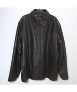 CLAIBORNE Lambskin Leather Jacket Zip Front Lined Car Coat Men XL Butter... - $84.15