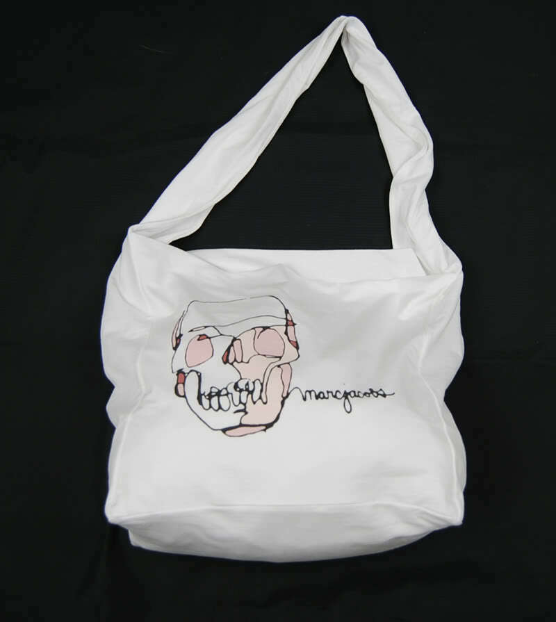 Primary image for Marc By Marc Jacobs Sling Skull White Tote Shoulder Bag Designer Handbag New