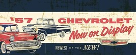 57 Chevrolet Car Advertisement Inspired Metal Sign - $39.95