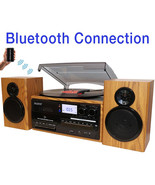 Boytone BT-28SPW, Bluetooth Classic Style Record Player Turntable with A... - $184.73