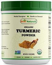 Best Naturals Certified Organic Turmeric Curcumin Powder 8.5 OZ (240 Gram), Non- - $16.20