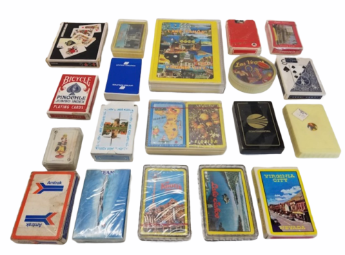 Vintage Playing Card Lot Airlines Delta Korean Continental Western Cruise Lines