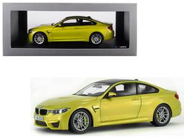 BMW M4 Coupe Austin Yellow with Carbon Top 1/18 Diecast Model Car by Par... - $162.00
