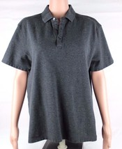 Calvin Klein women's polo shirt cotton gray short sleeve size L/G - $13.90