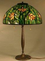 Antique Original Tiffany Studios Daffodil Leaded Slag Stained Glass Tabl... - $23,950.00