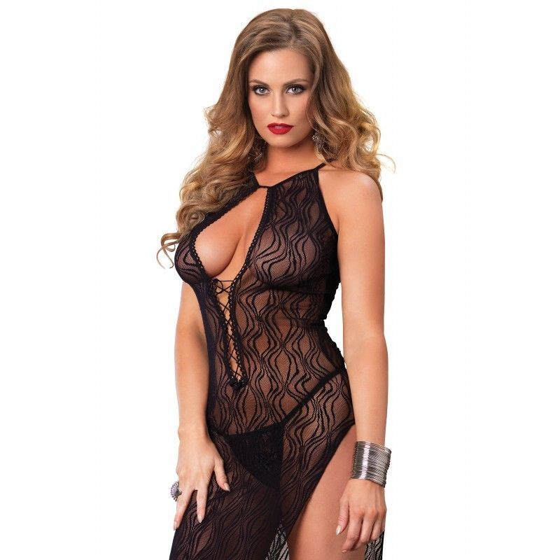 Clothing, Shoes & Accessories Leg Avenue 2pc Lace Chemise With G-string Red Onesize Style 8717