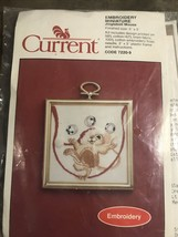 """Current 1984 Embroidery miniature """"Jinglebell Mouse"""" 3""""x3"""" - $14.99"""