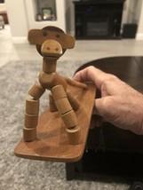Mid-Century Wood Toy Articulated Monkey ~ Kay Bojesen Style  ~ Amazing! - $74.25