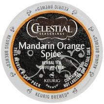 Celestial Seasonings Mandarin Orange Spice Herbal Tea, 72 K cups FREE SHIPPING - $52.99
