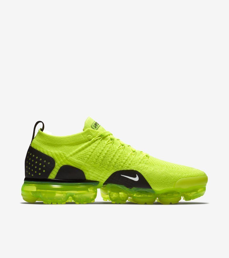 2d24a74d7384 Men s Women s Nike Air VaporMax Flyknit 2 Volt Sneakers Sz 8.5 mens 10.0  Womens