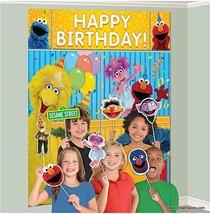 Sesame Street Scene Setter Birthday Party Wall Decoration Backdrop Elmo ... - $12.77