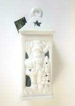 "North Star By Premier White 10"" Porcelain Santa Lantern Tea Light Candle... - $12.87"