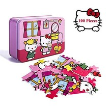 Hello Kitty Jigsaw Puzzle for Girls 100 Piece Puzzles for Kids Beautiful... - $17.28