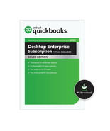 QuickBooks Enterprise 2021 Silver 10 User Unlimited Support 1 Year Subsc... - $4,172.00