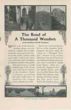 1905 Southern Pacific Railway Ad Sites Along Coast Line & Shasta Route CA - $9.99
