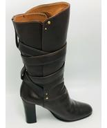 Chloé Women's Paddington Mid Calf Boots Dark Brown Size 8M - $296.99
