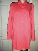 CHICO'S ORANGE 3/4 SLEEVE STRETCH COTTON SHIRT SIZE CHICO'S 3 - $18.37