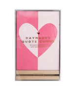 West Emory Daymaker Inspirational Quote Cards w/ Wooden Stand 12 ct Vale... - $12.86