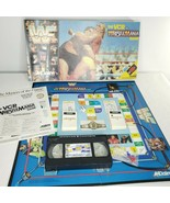 WWF The VCR WrestleMania Board Game Acclaim 1988 Complete Vintage Hulk A... - $44.50