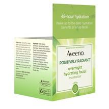 Aveeno Positively Radiant Overnight Moisturizer, Soy Extract, 1.7 oz - $29.54