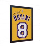 Kobe Bryant LA Lakers signed autograph printed on 100% canvas FRAMED - $21.55