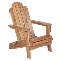 Teak Oiled Acacia Hardwood Folding Adirondack Outdoor Patio Deck Chair -... - £219.89 GBP