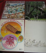 4 Vtg Jewelry Beading Books Patterns Projects Instructions Lamp Purse Je... - $12.86