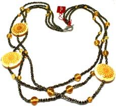 Necklace Antica Murrina Venezia with Glass of Murno Disc Beige & Gold CO724A10 image 1