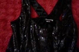 Forever 21-Women's-Shimmer-Sleeveless-Dress-Black-Size:S/P-Small/Petite-Mid~Calf image 2