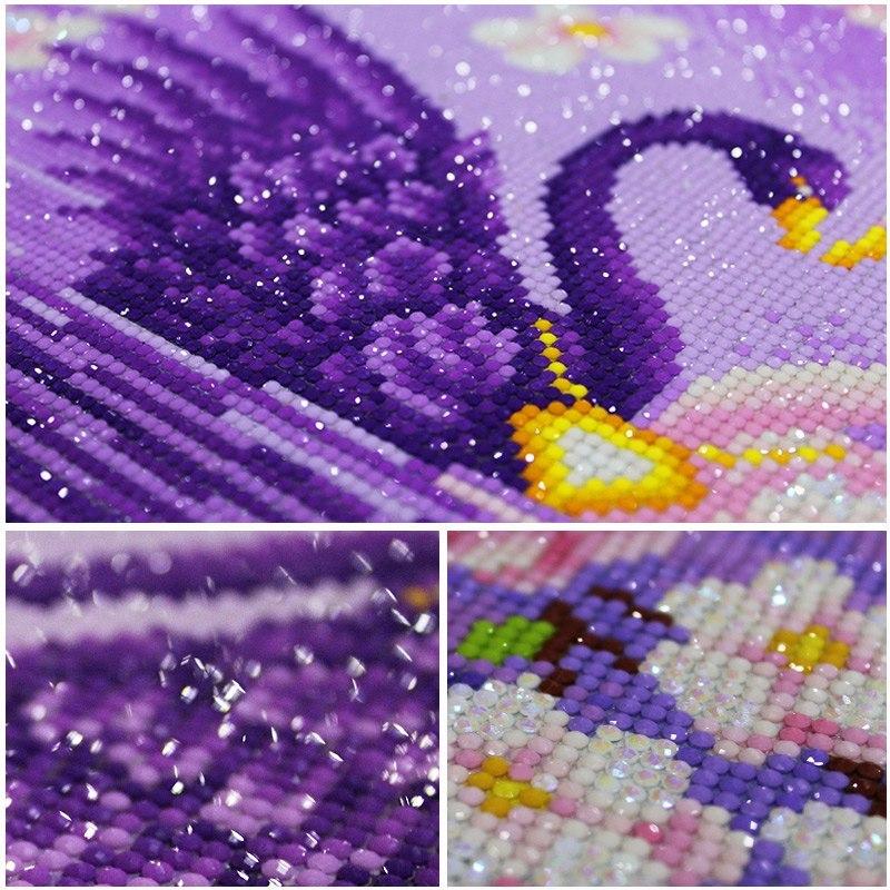 5d diy mosaic art needlework diamond painting swan rhinestone cross stitch  anima 5a712554c616