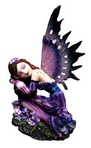 LAVENDER MEADOW FAIRY NAPPING SOUNDLY STATUE SCULPTURE SPECTACULAR PIECE - £21.55 GBP