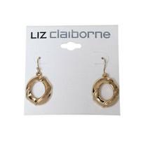 """Liz Claiborne Goldtone Pierced Earrings 1 1/2"""" New Msrp $36.00 - $9.99"""