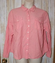 Womens Pink Izod Long Sleeve Shirt Size 2X excellent - $7.91