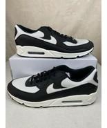 Nike Air Max 90 ID By You Custom Black-White Shoes Men's 15 - $148.45