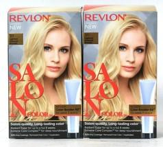 2 Boxes Revlon Salon Color 10 Lightest Natural Blonde Permanent Hair Dye - $23.99