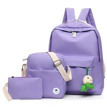 Casual Canvas Backpack Cute Bookbag Shoulder Bag School Backpacks for Te... - €26,52 EUR
