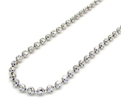 10k White Gold 2.5mm Mens Womens Diamond Cut Moon Chain Necklace 16 -30 ... - $477.09+