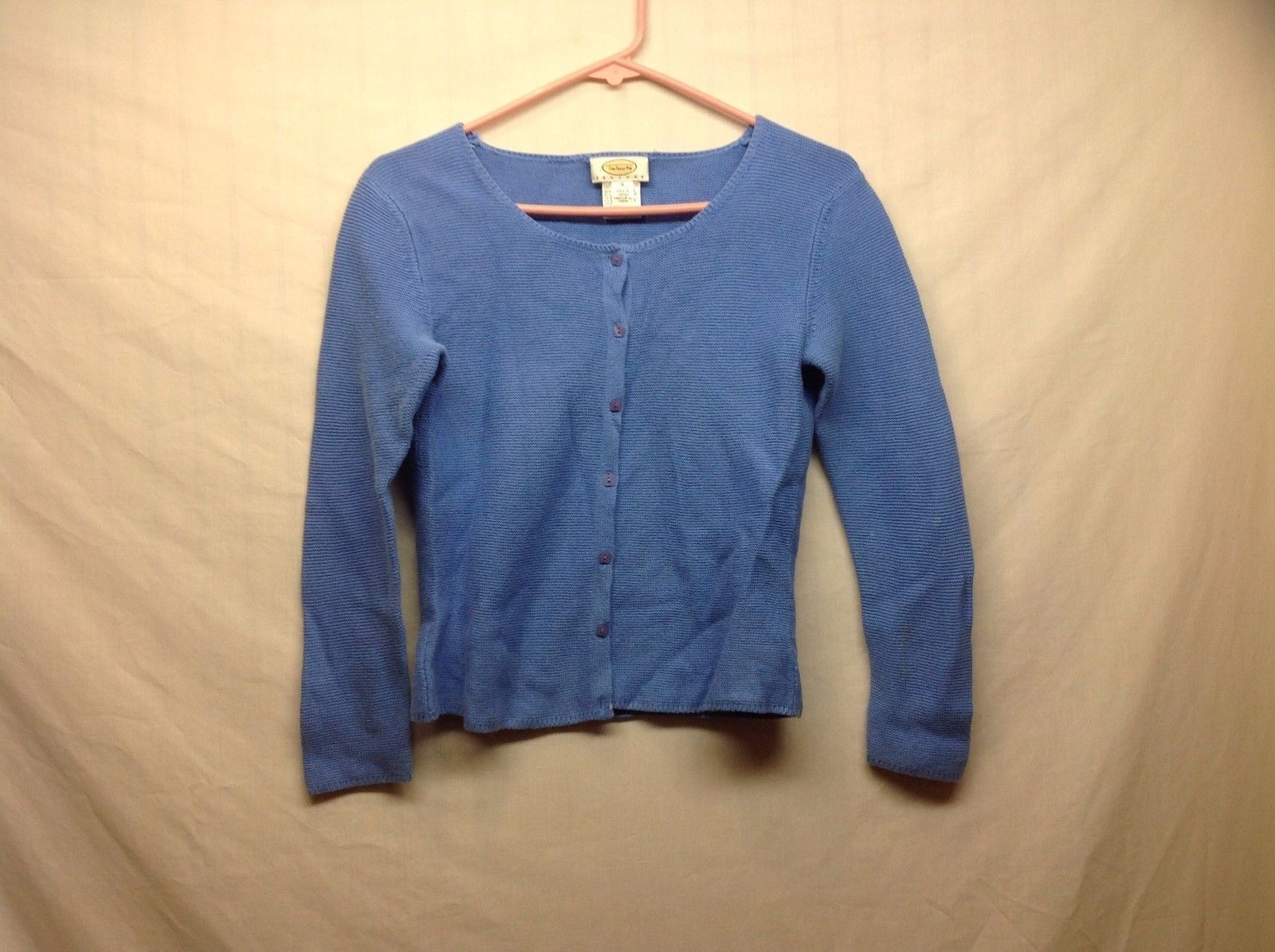Ladies Blue Cardigan Sweater by Talbots Sz PS