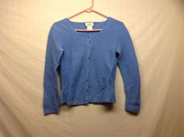 Ladies Blue Cardigan Sweater by Talbots Sz PS - $24.74