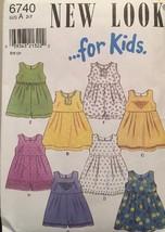 NEW Simplicity Child's Dress & Romper Printed Pattern 6740 Size A 2-7 UnCut/FF - $5.94