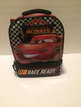DISNEY Pixar  CARS Lightning McQueen Dual Section School Lunch box Bag N... - $14.84