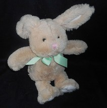 """11 """" Animale Avventura Bambino Marrone Coniglietto Coniglio W/Verde Bow Peluche - $13.33"""