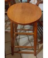 Solid Oak Amish Made Bar Stool - $249.00