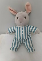 "Kohls Good Night Moon Rabbit Plush Stuffed Animal 15"" Plush Blue Striped Pajamas - $12.82"