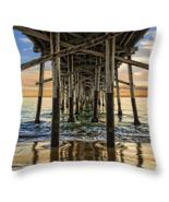 Pier Pillings, Throw Pillow, fine art, seat cushion, accent, sunset beach - $41.99+