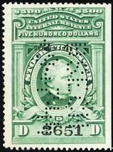 RD161, $500 VF 1943 Stock Transfer Revenue Stamp Cat $450.00 - Stuart Katz - $400.00