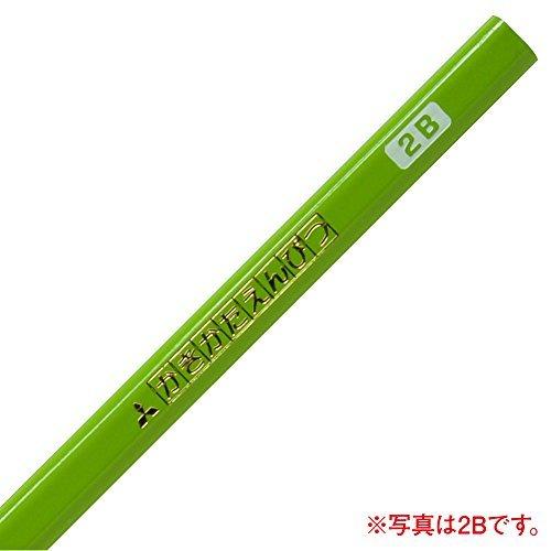 Mitsubishi Pencil Writing pencil triangle axis B yellow-green 1 dozen K4563B